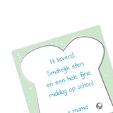 Notitieblok - Broodtrommelbriefje groen_