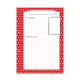 Navulling receptenboek rood met witte stippen_