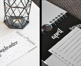 zwart wit kalender