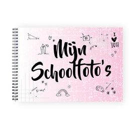 Mijn schoolfoto boek roze A4