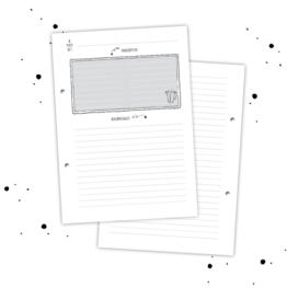 Navulling receptenboek zwart wit