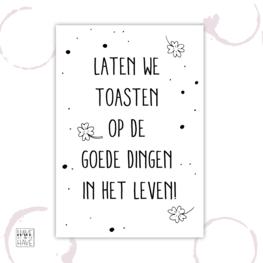 Etiket - toasten op het leven
