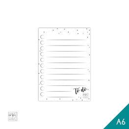 A6 Notitieblok - to do