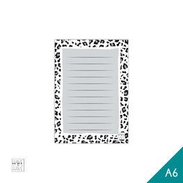 A6 Notitieblok - white panter