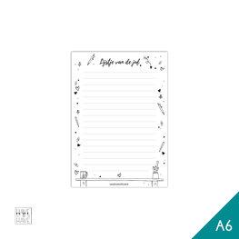 A6 Notitieblok - lijstje van de juf