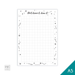 A5 Notitieblok - Don't dream it, draw it
