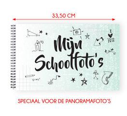 Mijn schoolfoto boek mint groen XL - voor de panorama klassenfoto 21 x 33,5 cm