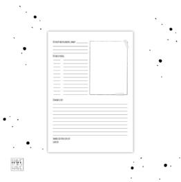 Thuis printen - receptenpagina juf
