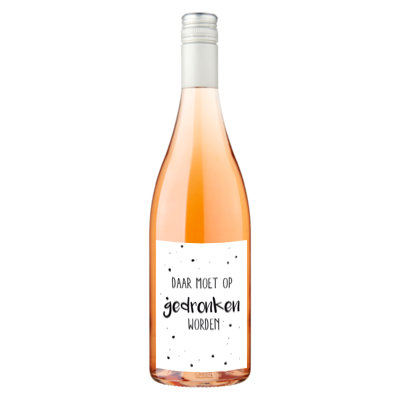 Etiket - daar moet op gedronken worden