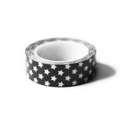 Washi tape zwart witte ster
