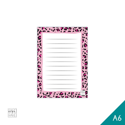 A6 Notitieblok - pink panter
