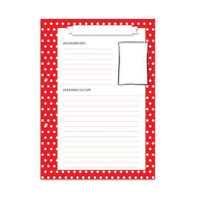 Navulling receptenboek rood met witte stippen