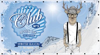 Winterdoek - Club apres ski - met eigen huisnummer