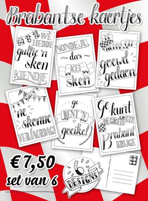 Set van 6 - Brabantse kaortjes