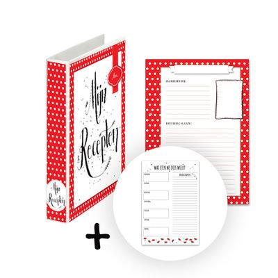 Mijn receptenboek rood + Notitieblok