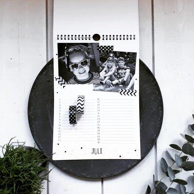 Regenboog A4 kalender + eigen foto