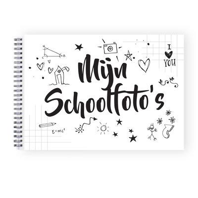 Mijn schoolfoto boek zwart wit A4