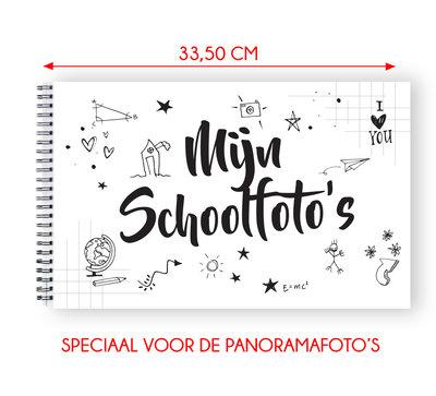 Mijn schoolfoto boek zwart wit XL - voor de panorama klassenfoto 21 x 33,5 cm