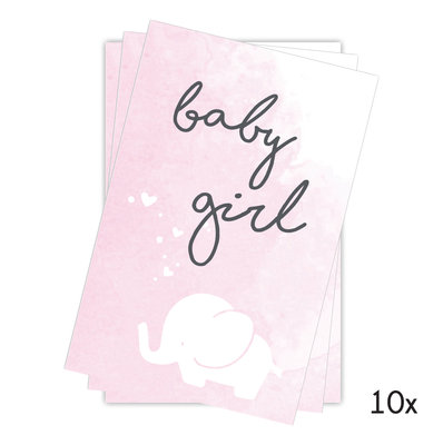 Cadeaukaartje baby girl 10