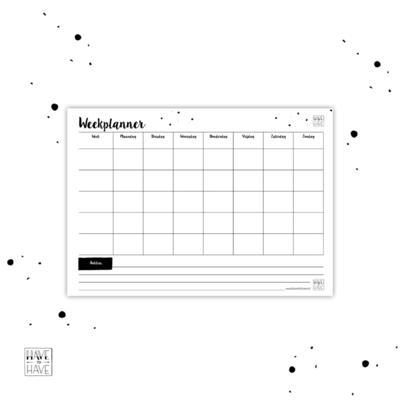 Thuis printen - weekplanner
