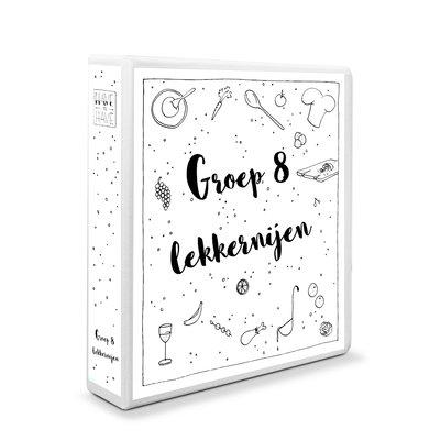 Mijn receptenboek zwart wit A5 - eigen titel