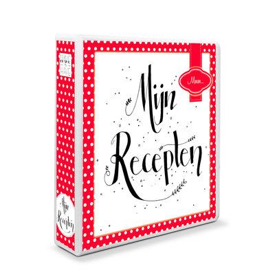 A5 - Mijn receptenboek rood met witte stippen
