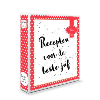 Mijn receptenboek rood met witte stippen A5 - eigen titel