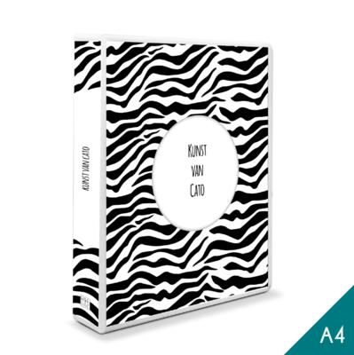 A4 - Tekenmap met eigen titel - zebra