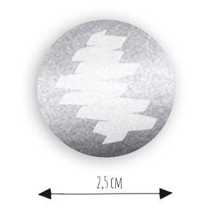 zilver krassticker