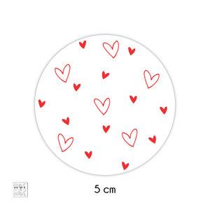 hartjes op een sticker