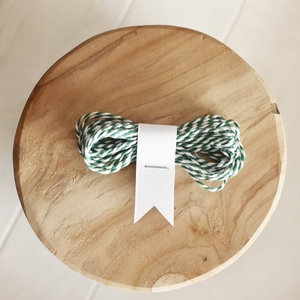 groen wit touw