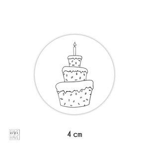 sticker taart