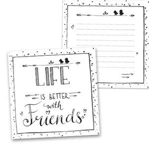 Wenskaart vierkant - Life is better with friends