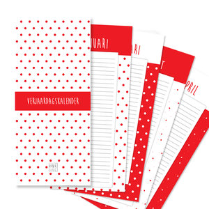 verjaardagkalender rode stip