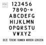 Naamplaat ZWART 52 x 11 cm - brede letter
