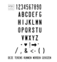 Naamplaat WIT 31x 11 cm - smalle letter