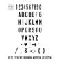 Naamplaat ZWART 31 x 11 cm - smalle letter