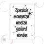 B-keus - Etiket - Speciale momenten