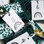 5x Cadeauzakje wit groen 12 x 19 cm